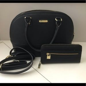 Anne Klein bowler bag with wallet